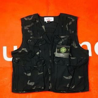 シュプリーム(Supreme)のSupreme Stone Island Camo Cargo Vest 黒 M(ベスト)
