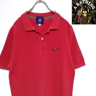アベイシングエイプ(A BATHING APE)の【美品】BAPE Polo-shirt shark red(ポロシャツ)
