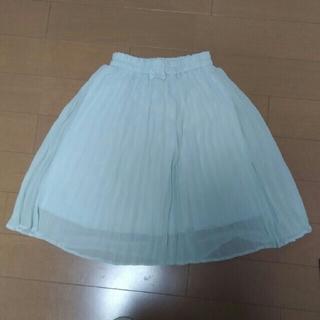 ジーユー(GU)のGU GIRLS フロントリボンプリーツスカート130(スカート)