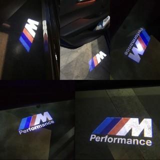 ビーエムダブリュー(BMW)のBMW M performance ロゴ カーテシーランプ LED(車外アクセサリ)