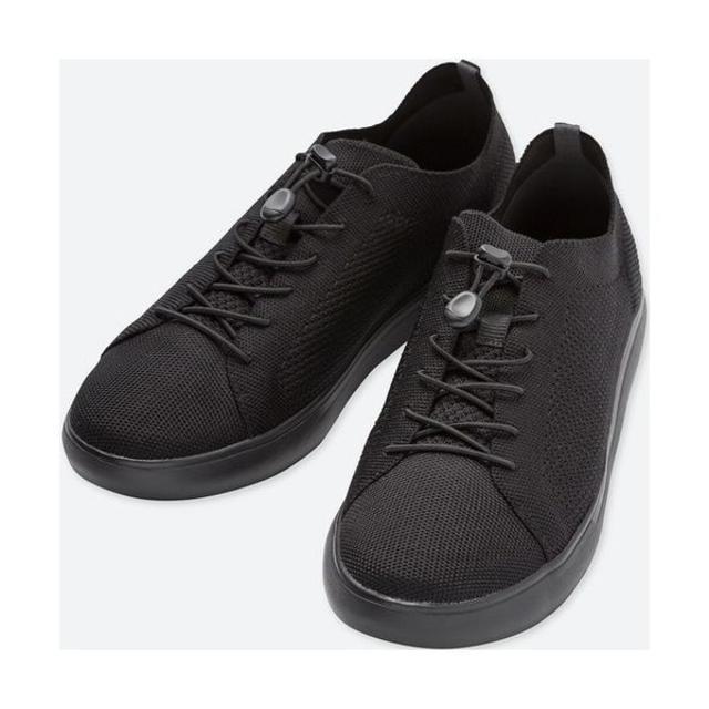 UNIQLO(ユニクロ)の新品 ユニクロ ニットライトスニーカー ブラック メンズ 26cm メンズの靴/シューズ(スニーカー)の商品写真