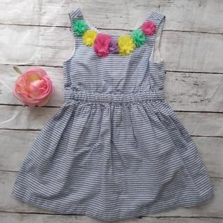 ベビーギャップ(babyGAP)のベビーGAP ストライプ サマードレス ワンピース 女の子 90 95 100(ワンピース)