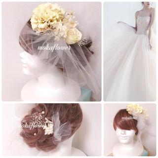豪華♡ナチュラルホワイトヘッドドレス(ウェディングドレス)