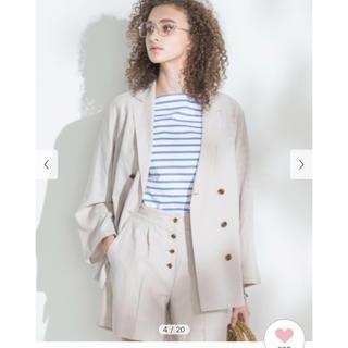 Mila Owen - ミラウォーエン スコッチボタンダブルシャツジャケット リネンジャケット