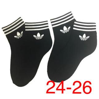 アディダス(adidas)のアディダスオリジナル ソックス 二足セット 24-26(ソックス)