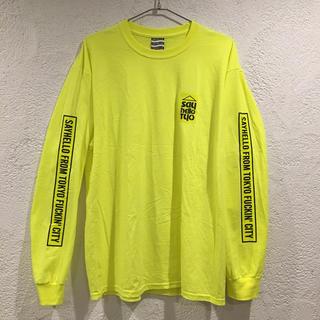 セイハロー ロンT 袖プリ SAYHELLO カットソー Tシャツ 美品 蛍光色