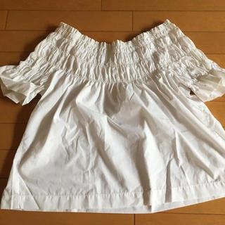 エージーバイアクアガール(AG by aquagirl)の2way シャーリングブラウス(シャツ/ブラウス(半袖/袖なし))