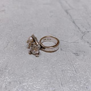 イーエム(e.m.)のe.m. イーエム ピンキーリング 指輪 ジルコニア パール シルバー 925(リング(指輪))