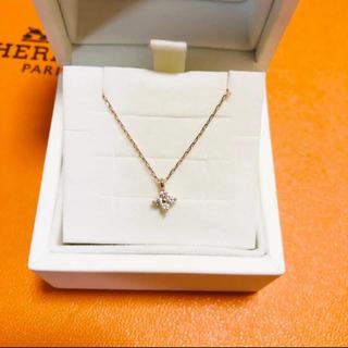 4℃ - 4℃ フラワー ネックレス ダイヤモンド