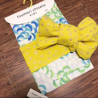 ツモリチサト(TSUMORI CHISATO)の新品未使用 ツモリチサト キッズ 浴衣&浴衣帯 100cm  2点セット(甚平/浴衣)