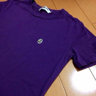 アベイシングエイプ(A BATHING APE)のAPEパープルコットンT(Tシャツ(半袖/袖なし))