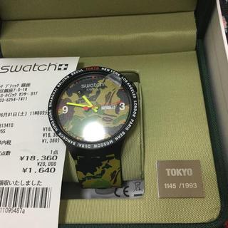 アベイシングエイプ(A BATHING APE)のBAPE x SWATCH 東京モデル シリアル1145番(腕時計(アナログ))