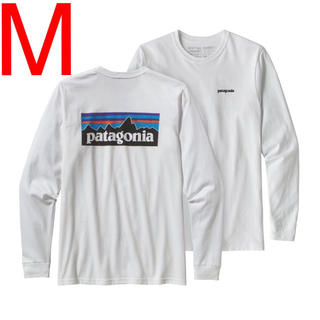 パタゴニア(patagonia)のパタゴニア  Patagonia  ロングスリーブ  ロンT  白  新品(Tシャツ/カットソー(七分/長袖))