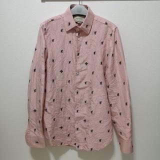 グッチ(Gucci)のGUCCI グッチ フラワー BEE刺繍シャツ(シャツ)