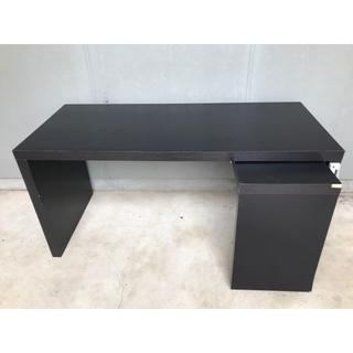 イケア(IKEA)の☆直接引取限定☆イケア IKEA テーブル 机 スライド式サイドテーブル付き(オフィス/パソコンデスク)
