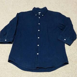 ジャーナルスタンダード(JOURNAL STANDARD)のジャーナルスタンダード 七分袖 紺 Mサイズ メンズ(シャツ)