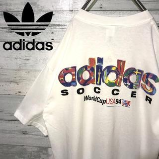 adidas - 【激レア】アディダス☆タグ付きUSA製 デカロゴ ビッグサイズ Tシャツ 90s