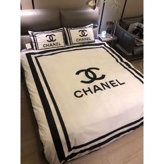 シャネル(CHANEL)のシャネル ホワイト シーツ 掛け布団 枕カバー4セット(シーツ/カバー)