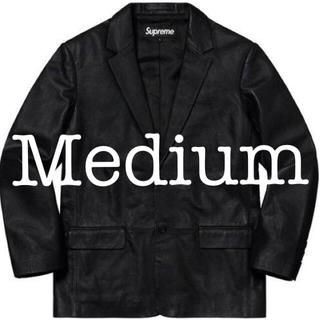 Supreme - Supreme Leather Blazer 黒M Black Medium