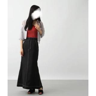 ハレ(HARE)のHARE ハレ 配色ステッチ ロングスカート (ロングスカート)