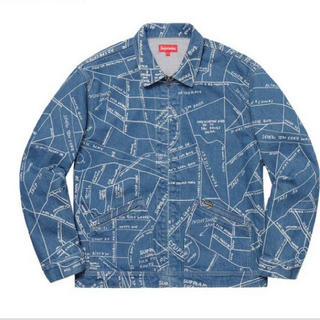 シュプリーム(Supreme)のSサイズ supreme gonz map wark jacket blue(Gジャン/デニムジャケット)