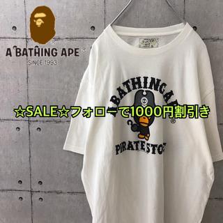 アベイシングエイプ(A BATHING APE)の【希少】アベイシングエイプ パイレーツ Tシャツ(Tシャツ/カットソー(半袖/袖なし))