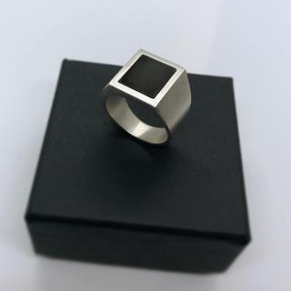 マルタンマルジェラ(Maison Martin Margiela)のsilver signetring リング スクエアリング シルバーリング(リング(指輪))