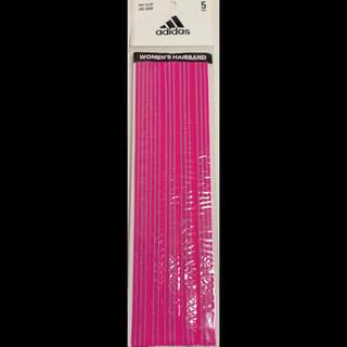 アディダス(adidas)のアディダス ヘアバンド ピンク 5本【購入コメント不要です】(応援グッズ)
