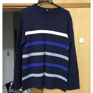ユニクロ(UNIQLO)のマリンボーダーTシャツ 長袖 ユニクロ L(Tシャツ/カットソー(七分/長袖))