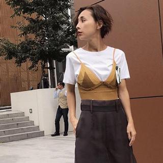 アメリヴィンテージ(Ameri VINTAGE)のAmeri VINTAGE MEDI KNIT BUSTIER SET TEE(Tシャツ(半袖/袖なし))