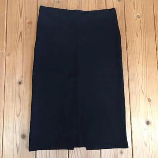 エイチアンドエム(H&M)のH&M ブラック タイトスカート(ひざ丈スカート)