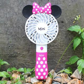 ミニーマウス - 日本未発売 ディズニー ミニーちゃん ミニ扇風機 ハンディ扇風機 数量限定