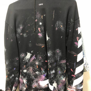 OFF-WHITE - OFF WHITE galaxy hoodie  ギャラクシー  M