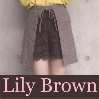 Lily Brown - 週末限定値下げ❁⃘リリーブラウン❁⃘大人気完売❁⃘レースコンビスカパン