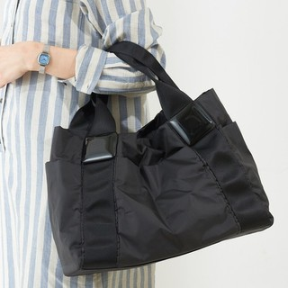 PAPILLONNER - 美品♥️パピヨネ 樹脂パーツ トートバッグ ブラック 黒 レディース 人気