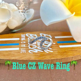 Blue CZ Wave Ring(リング(指輪))