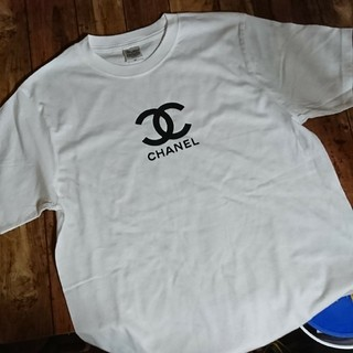 シャネル(CHANEL)のロゴ☆Tシャツ(白)(Tシャツ(半袖/袖なし))