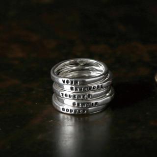 アッシュペーフランス(H.P.FRANCE)のSERGE THORAVAL 五感 5連リング セルジュトラヴァル 指輪(リング(指輪))
