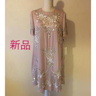 グレースコンチネンタル(GRACE CONTINENTAL)の新品 ¥68040- グレース コンチネンタル ビジュー スパンコール ドレス(ミディアムドレス)