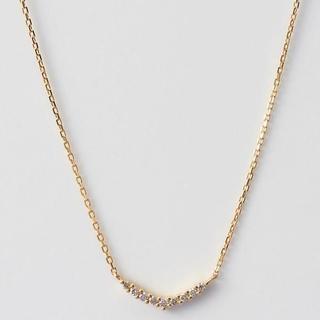 アガット(agete)のagete K18 ダイヤモンド ネックレス ¥42,120(ネックレス)