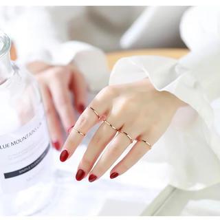 新着 ステンレスリング シンプル 華奢 可愛い アレルギー 指輪 超極細リング(リング(指輪))