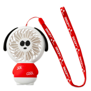SNOOPY - スヌーピー ミニサイズ扇風機(HANDY FAN) 赤 新品