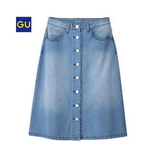 GU - 【GU】フロントボタン デニムスカート Mサイズ