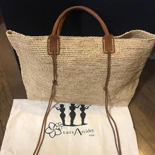 TOMORROWLAND - Sans Arcidet ラフィアラージトートバッグ