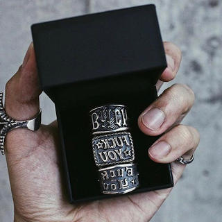 "Chrome Hearts - 15号 cody sanderson ring ""BITCH STAMP"""