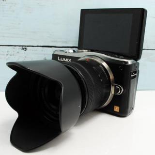Panasonic - 【美品!】WiFi&自撮り LUMIX GF6 ブラック 手振れ補正レンズキット