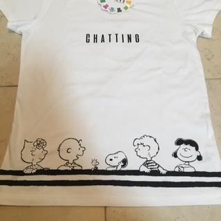 スヌーピー(SNOOPY)のスヌーピー Tシャツ サイズL 白 しまむら(Tシャツ(半袖/袖なし))