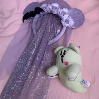 Disney - 花嫁カチューシャ、ミッキー 肩乗せ ぬいぐるみセット ディズニー