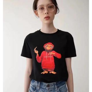 マウジー(moussy)のマウジー ET コラボ Tシャツ moussy 黒(Tシャツ(半袖/袖なし))