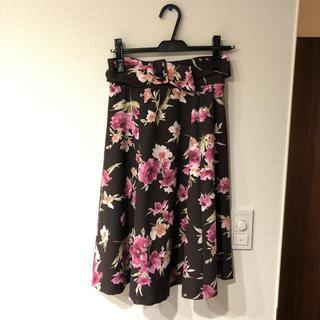 プロポーションボディドレッシング(PROPORTION BODY DRESSING)のプロポーション 花柄 スカート 未使用(ひざ丈スカート)